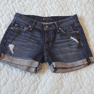 BNOT medium rise denim shorts